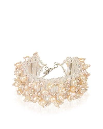 Saachi Freshwater Cultured Pearl & Crystal Encrusted Bracelet