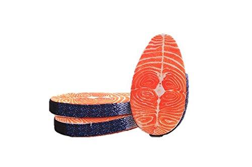 鮭 切り身 本物 そっくりなクッション リアル 3D 座布団 ぬいぐるみ しゃけ サーモン おしゃれ