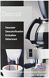 Urnex Dezcal Home Activated Descaler, For Home Coffee & Espresso Equipt., 4 - 1 oz Packets (Pack of 5 (4 x 1-oz ea)) from Urnex