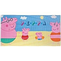 Telo mare asciugamano Famigia Peppa Pig Originale
