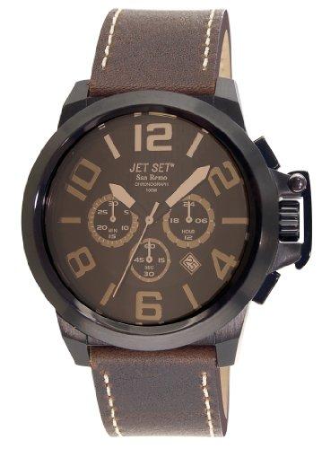 Jet Set J6190B-766 - Reloj cronógrafo de cuarzo para hombre con correa de piel, color marrón