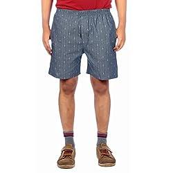 Aaduki Men's Cotton Shorts_Grey_XL