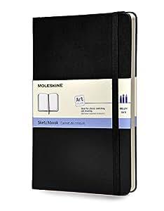 Moleskine QP063 Kreativ-Notizbücher, Skizzenbuch Large, Hardcover schwarz