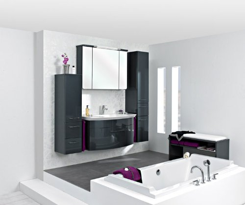 Pelipal Cassca 3 tlg. Badmöbel Set / Waschtisch / Unterschrank / Spiegelschrank inkl. Beleuchtung / Basis X