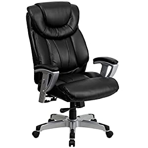 Hercules Series 400 Lb. Capacity Big & Tall Leather Office Chair With Arms