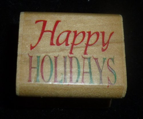 Happy Holidays Rubber Stamp - 1
