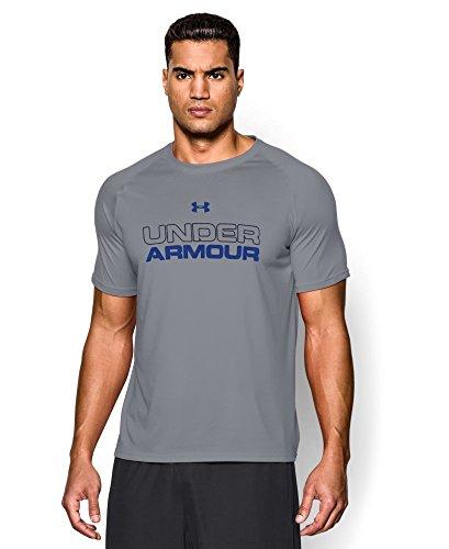 Under Armour Men's UA Core Wordmark T-Shirt X-Large Steel