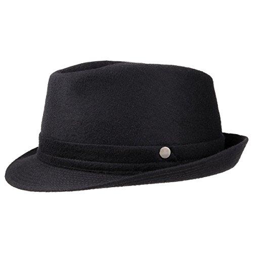 Aneb Virgin Wool Trilby Lierys cappello invernale cappello da uomo 56 cm - nero