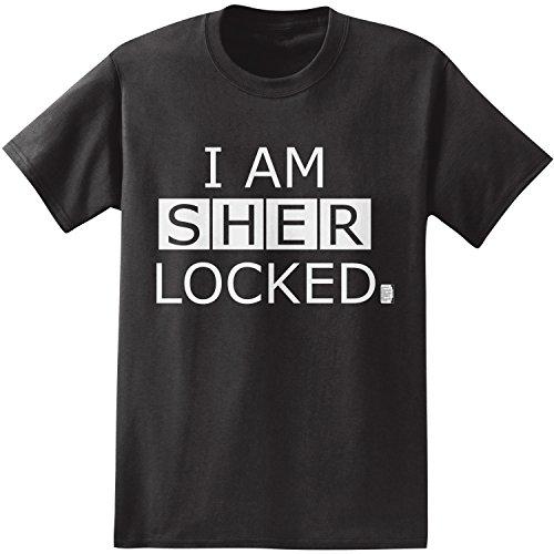 BBC Sherlock I Am Sherlocked Men's T-Shirt (Large, Black)