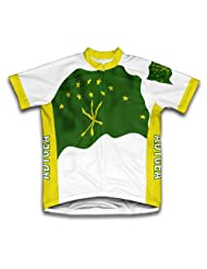 Adygea Flag Short Sleeve Cycling Jersey for Women