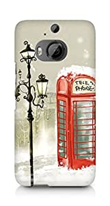 Amez designer printed 3d premium high quality back case cover for HTC One M9+ (Painting)