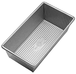 USA Pans 8.5 x 4.5 Inch Aluminized Steel Loaf Pan with Americoat Loaf Pan