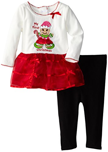 Youngland Baby-Girls Infant My First Christmas Dress with Leggings