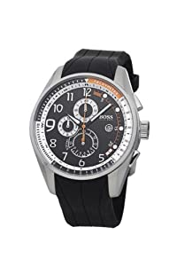 Hugo Boss Herren-Armbanduhr XL Gents Iconic Chronograph Silikon 1512366