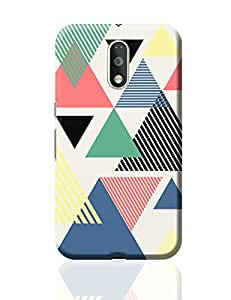 PosterGuy Moto G4 Plus Covers & Cases - Lovely Triangles | Designed by: Ecstacy Designs