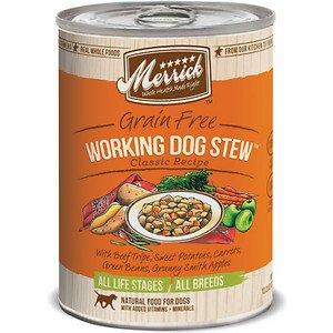 Merrick Classic Grain-Free Working Dog Stew Recipe Canned Dog Food, 13.2-Oz, Case Of 12