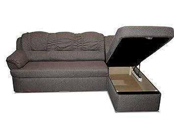Polstermöbel Ramos mit Staukasten und Bettfunktion – Abmessungen: 247 x 155 cm (L x B) - Ottomane: Links