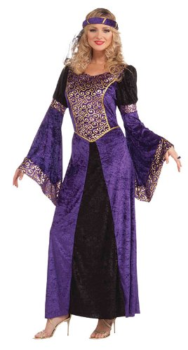 Bristol Novelty Purple/Black Medieval Maiden Adult Costumes - Women's - One Size