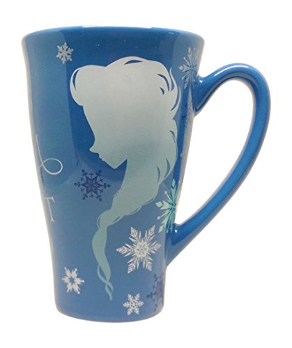 Anna and Elsa Silhouette Ceramic Mug - 12 Ounces (Disney Frozen Drinking Cups compare prices)