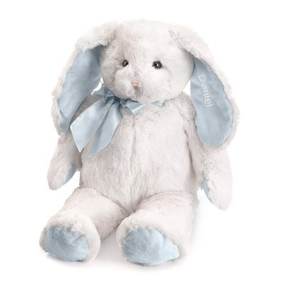 Personalized, Embroidered Stuffed Plush Bunny -Boys front-91068