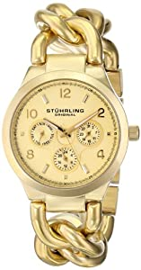 Stuhrling Original Women's 813.02 Vogue Lady Renoir Analog Display Quartz Gol...