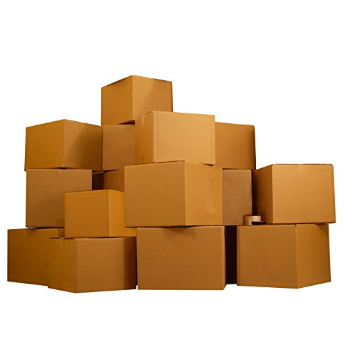 UBOXES Moving Boxes – 5 Room Economy Kit 62 Boxes, Plus Packing Supplies.