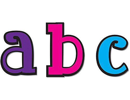 Teacher Created Resources Multicolor 5-Inch Lowercase Fancy Font Letters