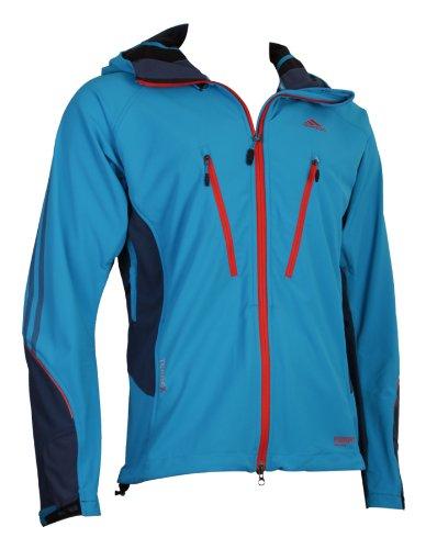 Adidas Terrex Gore-Tex Windstopper Softshell Mens Jackets outerwear Windbreaker Wind jackets Outdoor Hiking Trekking Rainjackets Rain windproof waterproof gore tex goretex TX WS man blue S