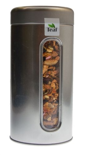 Sweet Pumpkin Pie - Fruit Tea - In A Silver Caddy - Ø 76 Mm, Height 153 Mm (100G) front-478596