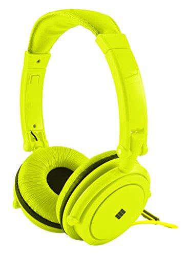 Polaroid Php8360Yl Powerful Bass Jumbo Padding Neon Headphones With Noise Isolation, Yellow