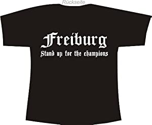 Freiburg - Stand up for the champions; Polo T-Shirt schwarz