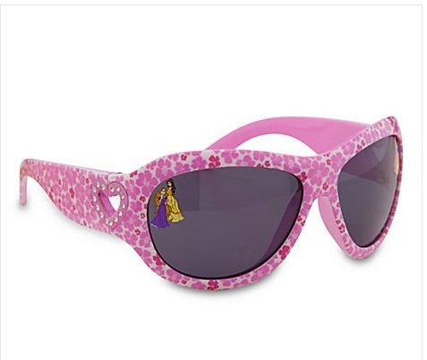 Disney Princess Sunglasses for Girls (Pink Flowers, Belle, Rapunzel)