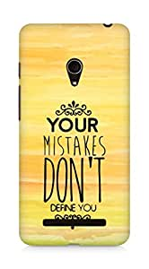 AMEZ your mistakes dont define you Back Cover For Asus Zenfone 5