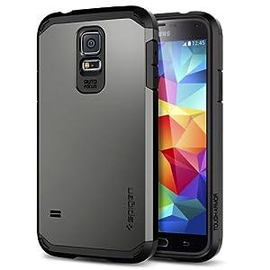 Galaxy S5 Case, Spigen Tough Armor Case for Galaxy S5 - Retail Packaging - Gunmetal (SGP10762)