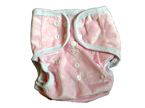 One Size Fit Most - Diaper Covers For Prefolds/Regular Inserts Minky - Baby Pink