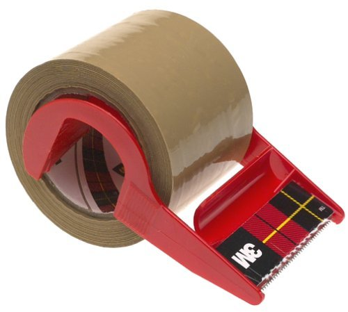 Scotch 3M Tan Mailing Tape with Dispenser, 1.88 in X 800 in (Pack of 6) (Registered Mail compare prices)