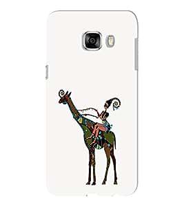 EPICCASE girl riding giraffe Mobile Back Case Cover For Samsung C5 (Designer Case)