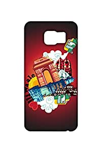 RANGSTER Dilli Sheher-Rangful Matte Finish Mobile Case For Samsung Galaxy S6 Edge (SM-G925I)-Black