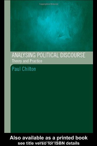 Analysing Political Discourse: Theory And Practice