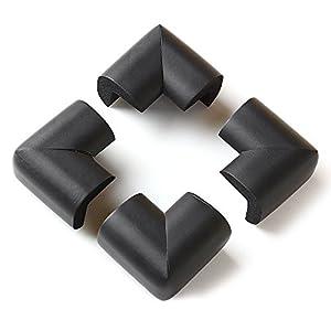 VivReal® Protector Para Esquina de Mesa Mueble Antigolpes Caucho 4PCS Para Bebé Niños Seguridad 6x6x1.2cm Negro en BebeHogar.com