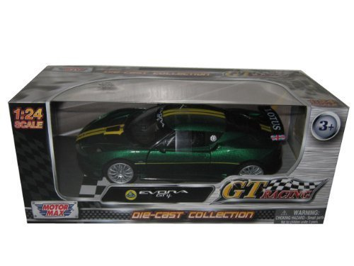 lotus-evora-gt4-green-gt-racing-1-24-by-motormax-73771-by-motormax