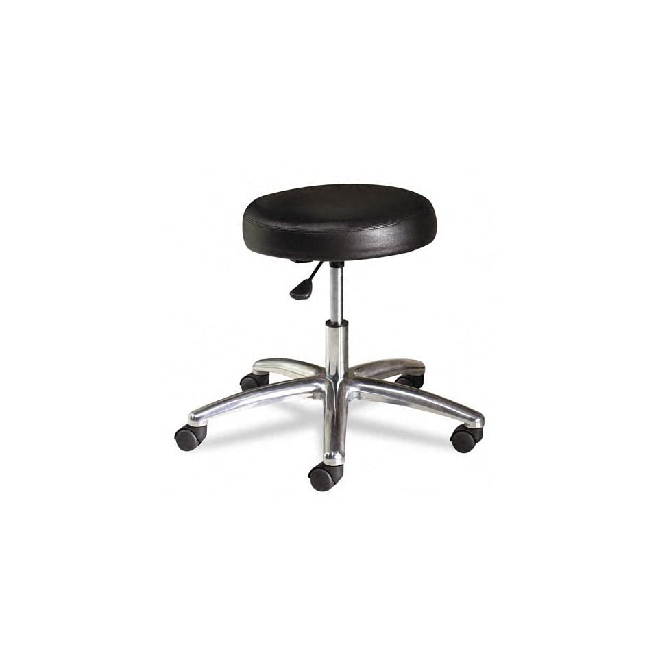 Medical Exam Stool without Back, 24 1/4 x 27 1/4 x 22, Black