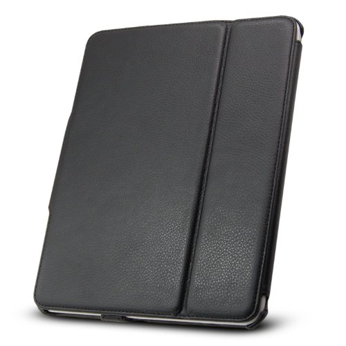 Technocel Leather Flip Book Case/Folio for Apple iPad (1st Generation) (Black)