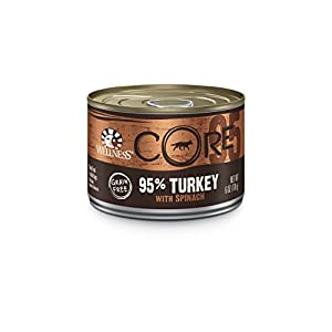 Wellness CORE Natural Grain Free Wet Canned Dog Food, 95% Turkey with Spinach Recipe, 6-Ounce Can (Pack of 24)