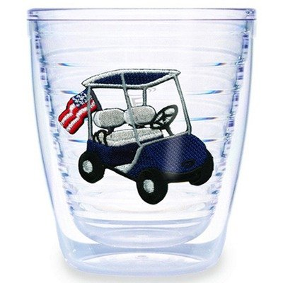 Golf Cart Blue 12 Oz. Tumbler (Set Of 4) front-902542