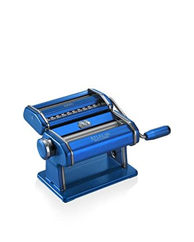 Marcato Atlas 150 Pasta Maker with a Brushed Finish, Blue