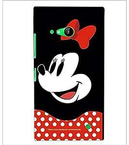 PrintDhaba Minnie Mouse D-2438 Back Case Cover for NOKIA LUMIA 730 (Multi-Coloured)