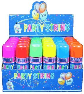 Blue Box Party String - not Silly String - 24 Cans (Party Spray compare prices)