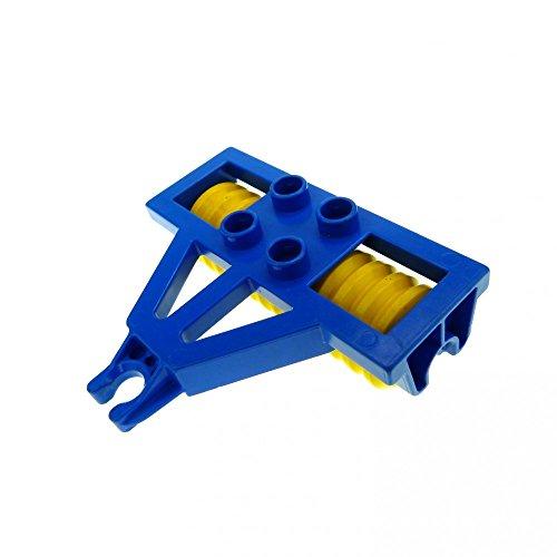 1 x Lego Duplo Anhänger Walze blau gelb Pflug