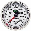 "Auto Meter 7355 NV 2-1/16"" 100-260 F Full Sweep Electric Water Temperature Gauge"